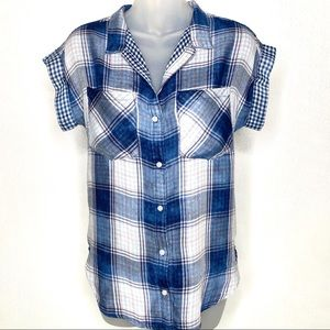 ANTHROPOLOGIE Cloth & Stone Plaid Shirt Size XS